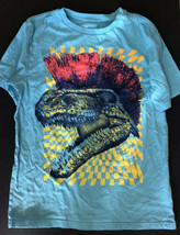 Children's Place Dinosaur W/ Mohawk Blue Short Sleeve T Shirt Boy's L 10-12 - $7.91