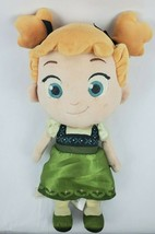 "Disney Store Frozen Toddler Anna Doll 14"" Plush Green Dress Pigtails Stu... - $16.93"