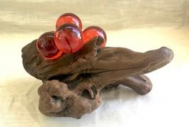Vintage Red Lucite Grape/Drift Wood Mid Century Sculpture - circa 1960's - $21.89
