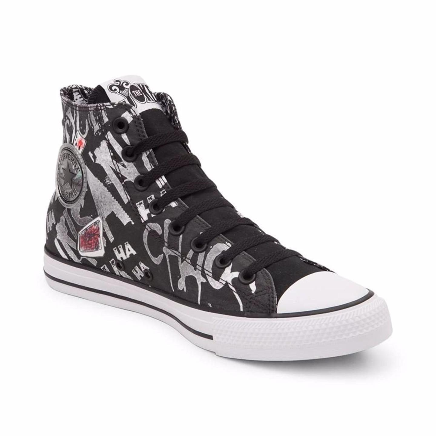 b66ceddd9a2717 Converse DC Comics The Joker Laugh Sneakers Suicide Squad Batman Villain  154789C