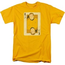 Star Trek Captain James Kirk playing card face anime graphic tee CBS1421 image 1
