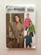 Butterick B4865 Fast & Easy Sewing Pattern Belt Jacket Size L- XL - $7.91