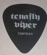 TENAFLY VIPER Guitar Pick Black with White Lettering Jag Emblem on Back - $10.76