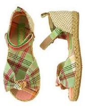 Gymboree Coral Reef Madras Espadrille Sandals-Sz 2-NWT - $19.99