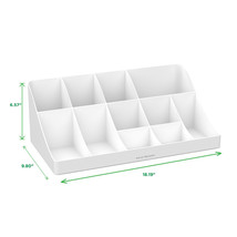 Mind Reader 'Pioneer' 11 compartment Break room Coffee Condiment Organiz... - $50.52
