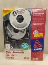 Avery Laser CD Labels Matte White 50/Pack 5931 Laser - $24.98