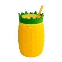 Cool Gear Pineapple Double Wall Drink Tumbler Cup with Straw  BPA FREE  Hawaiian - $15.83