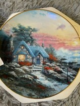 """Knowels 1993 """"Seaside Cottage"""" by Thomas Kinkade Collectors Plate (7809 B) - $28.05"""