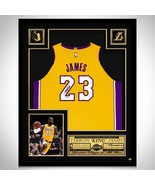 Lebron James Autographed Jersey Framed LA Lakers - $895.00