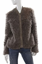 GUESS Camryn Faux Fur Snap-Up Weathered Grey Jacket $138 M NWT - $60.97