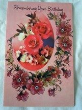 Vintage Fantusy Remembering Your Birthday Card 1983 - $1.99