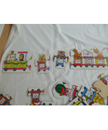 Wooden Puzzle White Alphabet Train Boys Girls 26 Pieces English And French  - $19.79