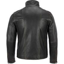 Men's Black Rivert Faded Seam Genuine Leather image 3