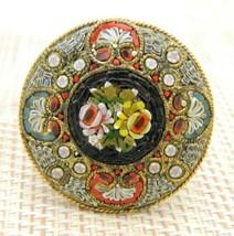 FAP FABBRICA ANGELO PESSAR Italian Micro Mosaic Pin Brooch Pendant - $395.99