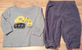 Boy's Size 3-6 M Months Two Piece J Beans Scoop Truck L/S Top & Carter's... - $7.63