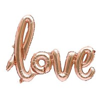 TRIXES Rose Gold Letter Foil Balloon Anniversary Wedding Valentine's Day... - $4.94