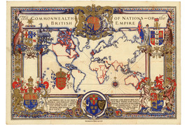 Commonwealth of Nations; British Empire; For Coronation George VI Map; 1937 - $26.72+