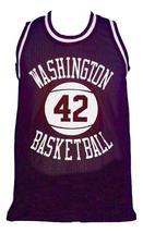 Latrell Sprewell #42 Washington Purgolders Basketball Jersey Purple Any Size image 1