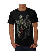 Guitar Metal Badass Skull Shirt Skull Show Men T-shirt - $12.99+