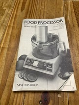 GE General Electric Food Processor FP1B Owner's Manual - $3.95
