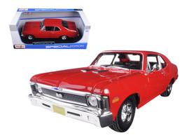 1970 Chevrolet Nova SS Coupe Red 1/18 Diecast Model Car by Maisto - $65.00