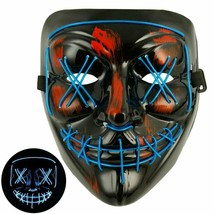 Tagital Halloween Mask Led Light Up Funny Masks The Purge Movie Scary Fe... - $24.77 CAD
