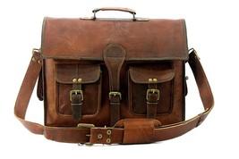 Vintage Brown Genuine Leather Backpack Messenger Satchel Shoulder Bag - $61.37