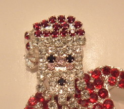 LIZ CLAIBORNE Rhinestone Santa Brooch Pin NIB - $33.99