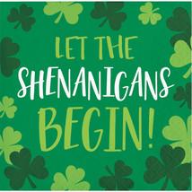 "Irish Blarney 2 Ply ""Let the Shenanlgans Begin"" Printed Beverage Napkin,... - $46.57 CAD"
