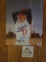 Autographed 8x10 Color Carl Erskine, Brooklyn Dodgers COA - $7.43