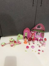 Strawberry Shortcake doll house, food car cart accessories lot  pet doll... - $39.95