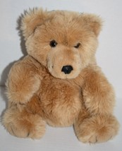 "Eden TEDDY BEAR 12"" Brown Plush Soft Toy Stuffed Black Vinyl Nose Vtg Korea - $23.19"