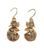 Egyptian Ra Golden Pewter Earrings Jewelry- Mystica Collection - $8.90