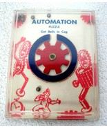 Vintage Automation Robot Cog Wheels Puzzle  5 x 4 Inches  T92 - $18.32