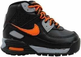 Nike Little Max 90 Boot Black/Orange Blaze-Stealth-Dark Red 317217-081 T... - $36.54