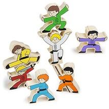 Imagination Generation Wooden Wonders Kung-Fu Stunt Stackers Balancing G... - $13.66