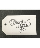 **100** Black & White Calligraphy Thank You Tags - Wedding - $11.00