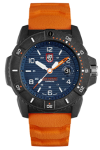 Luminox 3603 Navy Seal Men's Orange Rubber Strap Blue Dial 45mm Case Watch image 1