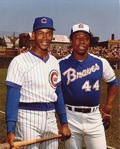 Hank Aaron Ernie Banks SA Vintage 18X24 Color Baseball Memorabilia Photo - $35.95