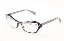 Authentic Alain Mikli Eyeglasses AL1122 MO4S Silver Black Metal Plastic France - $186.92