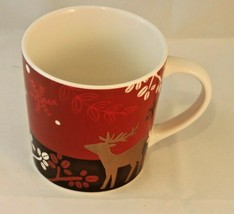 Starbucks Christmas Holiday 2009 Coffee Mug Cup Reindeer Deer Bone China - $12.99