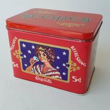 Tin Recipes Box - Enjoy Delicious And Refreshing Coca-Cola - $18.23