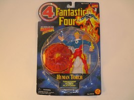 Biz Toys 1996 Fantastic Four Marvel The Human Torch Action Figure NRFB - $11.87
