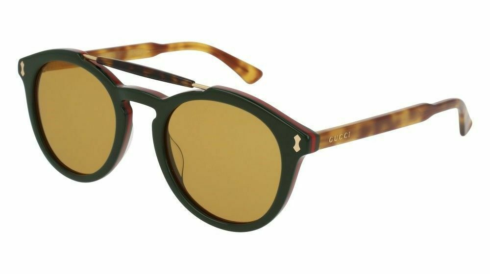 53621941ecfb6 Gucci GG0124S-005 Blue Havana Green Lens 50mm Sunglasses ( Case Not  Included ) -  205.80