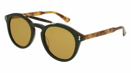 Gucci GG0124S-005 Blue Havana Green Lens 50mm Sunglasses ( Case Not Included ) - $205.80