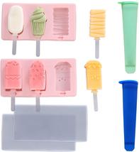 2Pcs Ice Cream Silicone Popsicle Molds+2Pcs Ice Pop Bags,PBA Free,Easy t... - $9.70