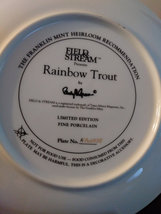 """Field & Stream """"Rainbow Trout"""" by Randy McGovern Plate No HA2950 Plate The Frank image 2"""