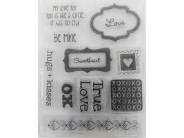 Love Sentiments and Icons Clear Stamp Set
