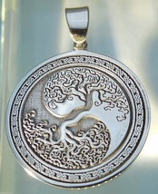 Pendant Celtic Tree of Life Amulet Jewelry 925 sterling silver (c609N) B... - $35.64