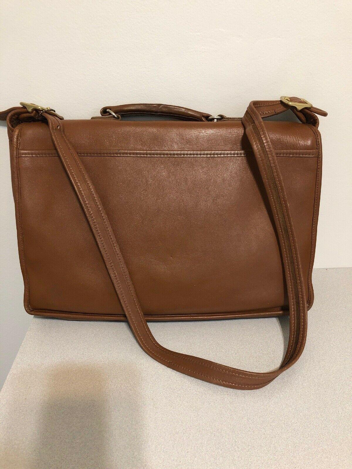 Vintage COACH L6C- 5180 Metropolitan Leather Messenger Attache Tan image 5